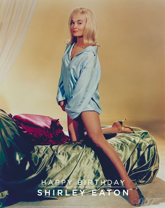 A very Happy Birthday to Shirley Eaton who played Jill Masterson in GOLDFINGER (1964).