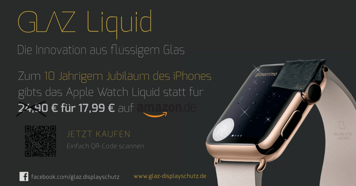 Glaz On Twitter Glaz Liquid Special 10yearsofiphone Applewatch