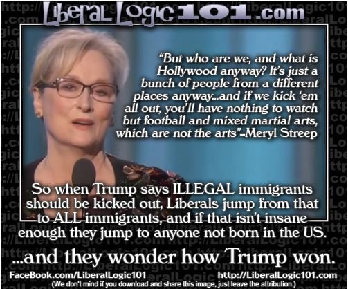 ...and they wonder how Trump won  #Hollywood #LiberalsUnite #MerylStreep  #GoldenGlobes  #MAGA  #mondaymotivation