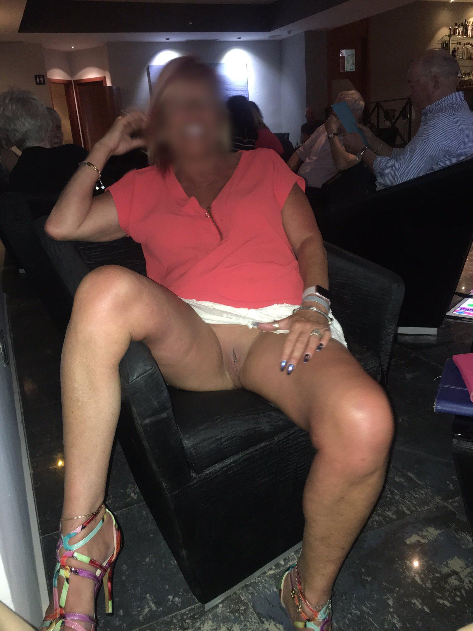 sexy milf sue on twitter hands up caught publicflashing