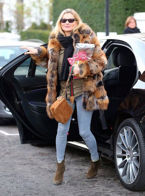 Kate Moss Stuns in London