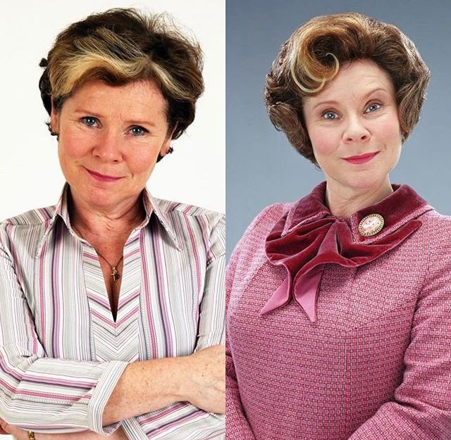 Happy birthday to Imelda Staunton. She plays Dolores Umbridge in Harry Potter fifth and Harry Potter sixth