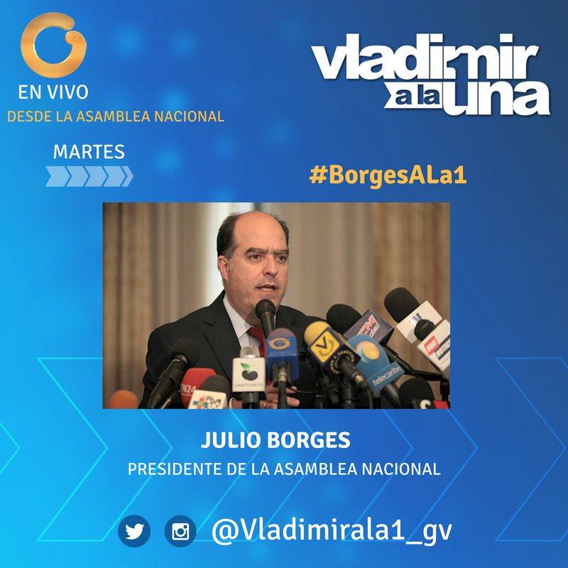 #MARTES en @Vladimirala1_gv con @JulioBorges. Sintoniza #BorgesALa1 po...