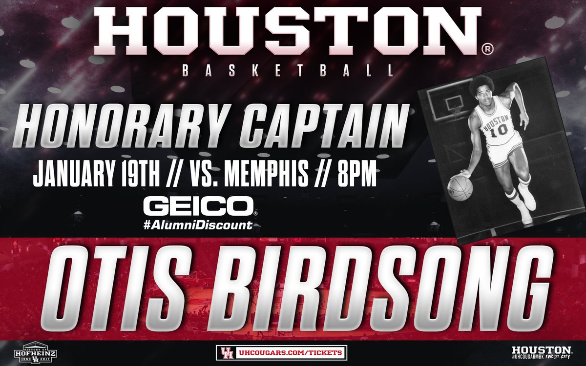 "Houston Athletics on Twitter ""Otis Birdsong will be back on"
