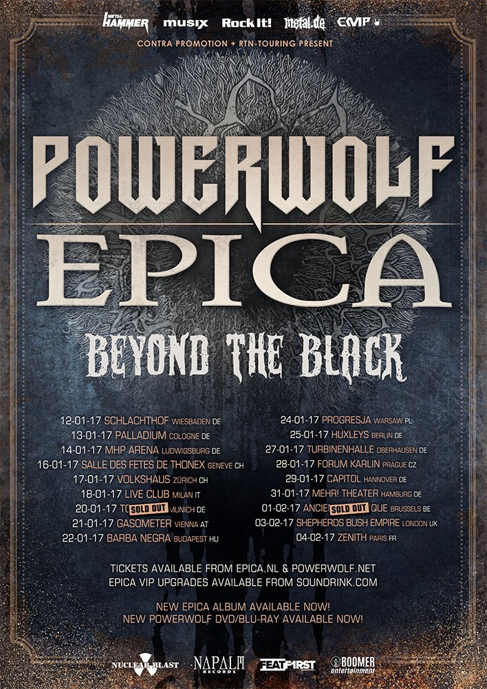 Epica On Twitter Our Show At The AncienneBelgique Is SOLD OUT We