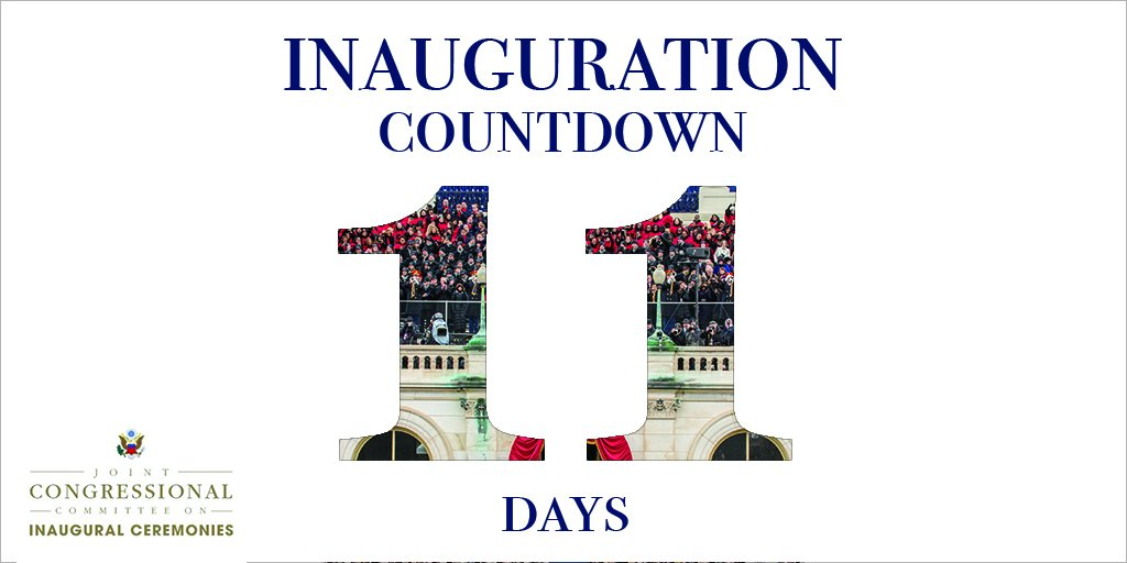 Jccic On Twitter 11 Days Until The 58th Presidential Inauguration