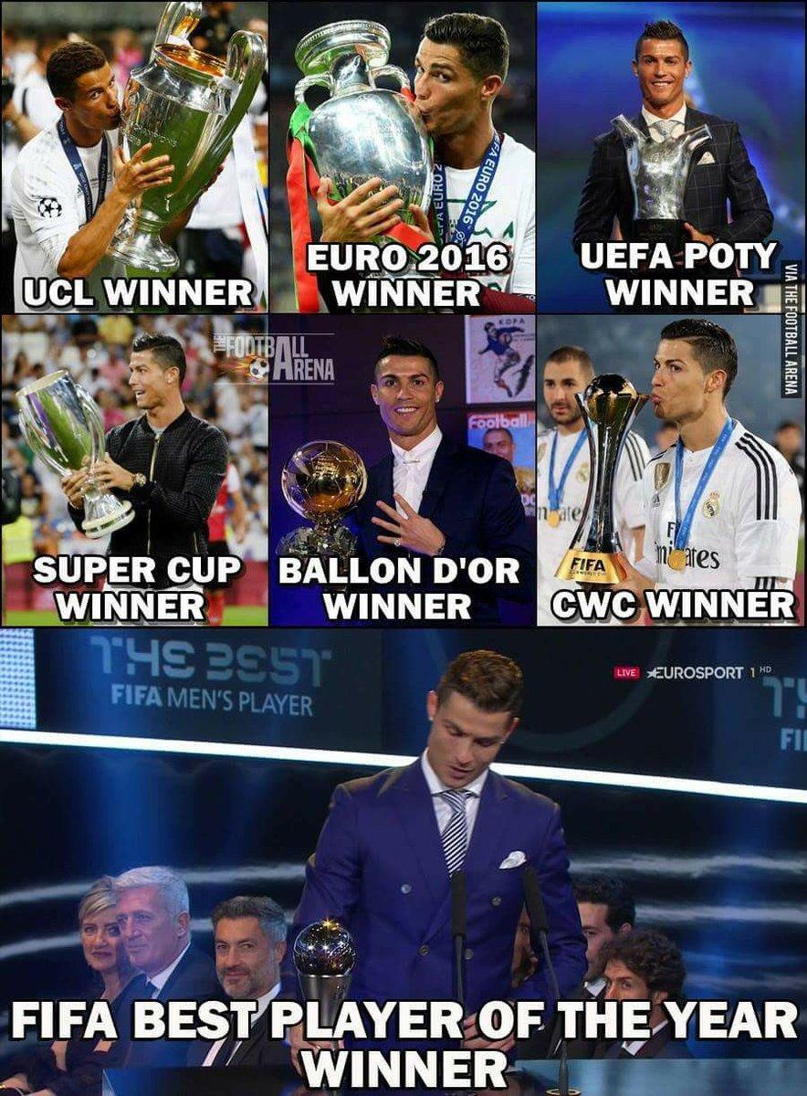 2016 was voor de wereld een vrij rampzalig jaartje, maar niet voor Ronaldo
