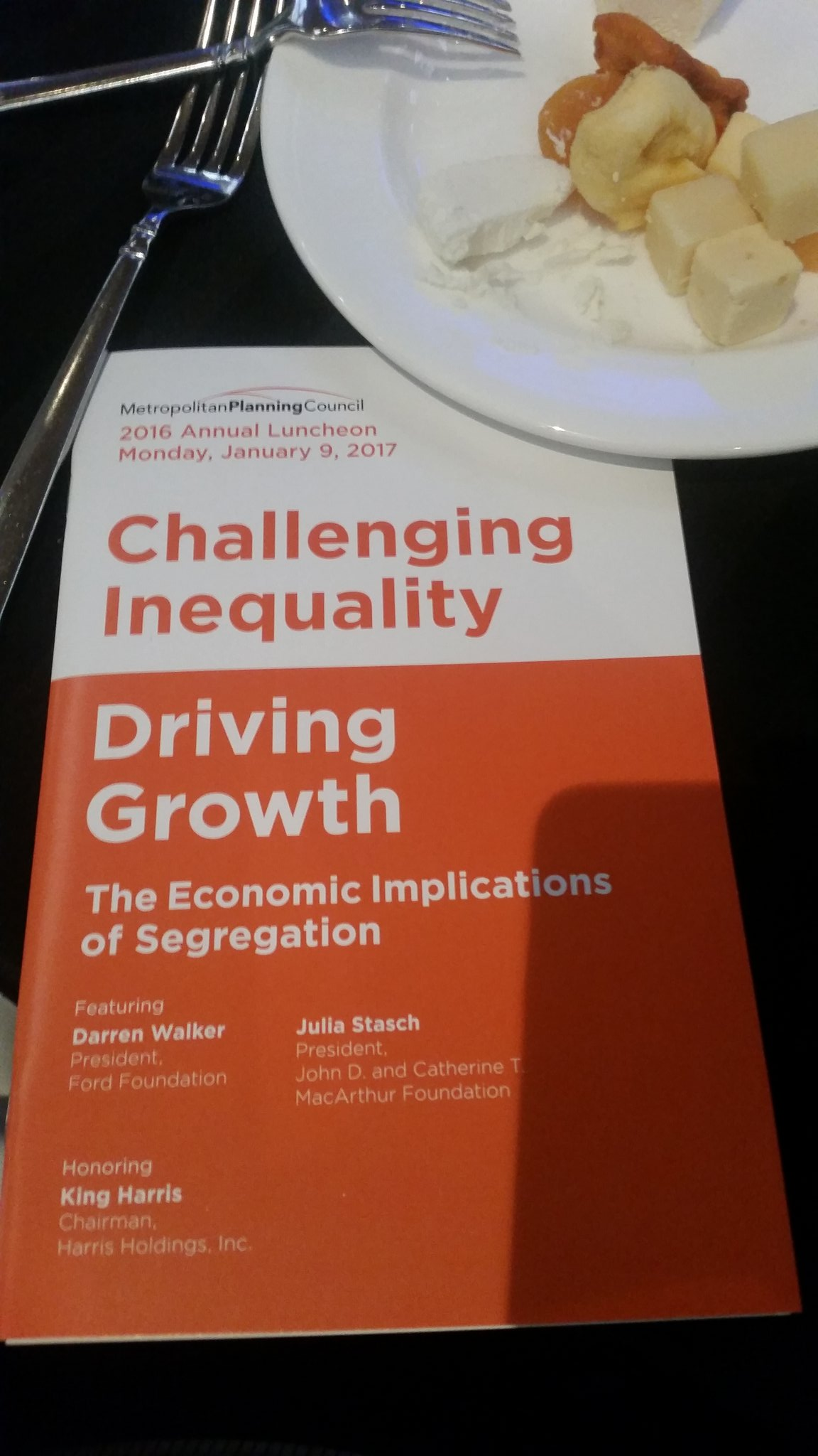 @ChiUrbanLeague  maybe a great time to partner. Both of you seek to solve segregation  #mpcluncheon https://t.co/1nDWprioio