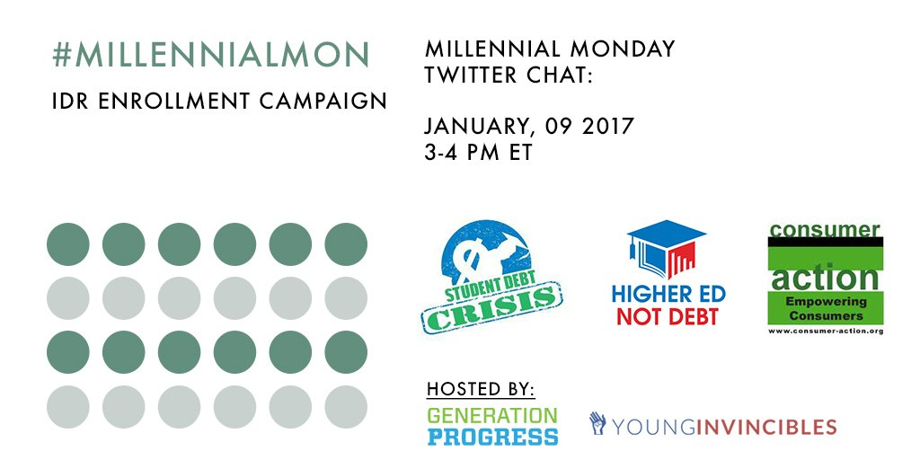 Welcome to #MillennialMon! Today's topic: Enrolling in an Income-Driven-Repayment Plan for your Federal Student Loans https://t.co/EQS89UFv7L