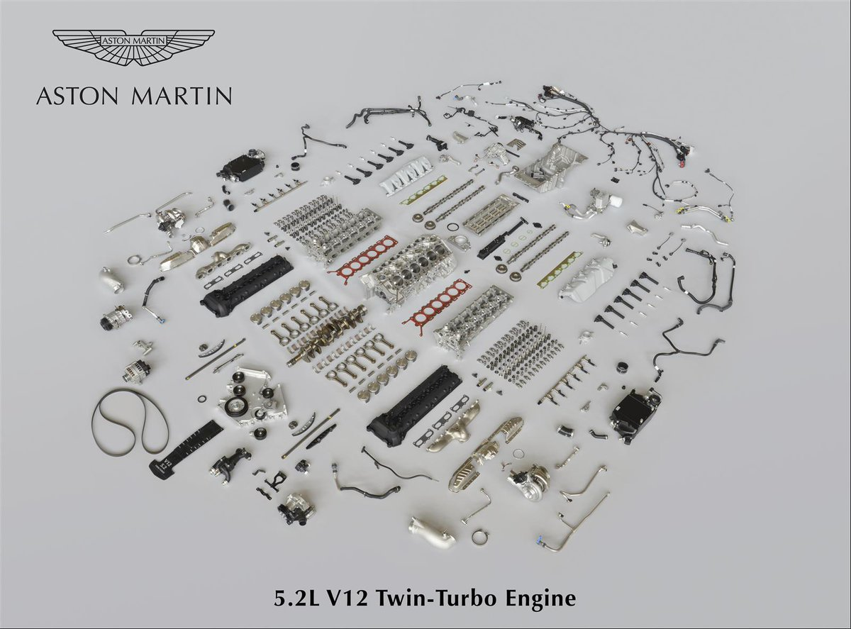 Every piece of the new #DB11 V12 Twin-Turbo engine...