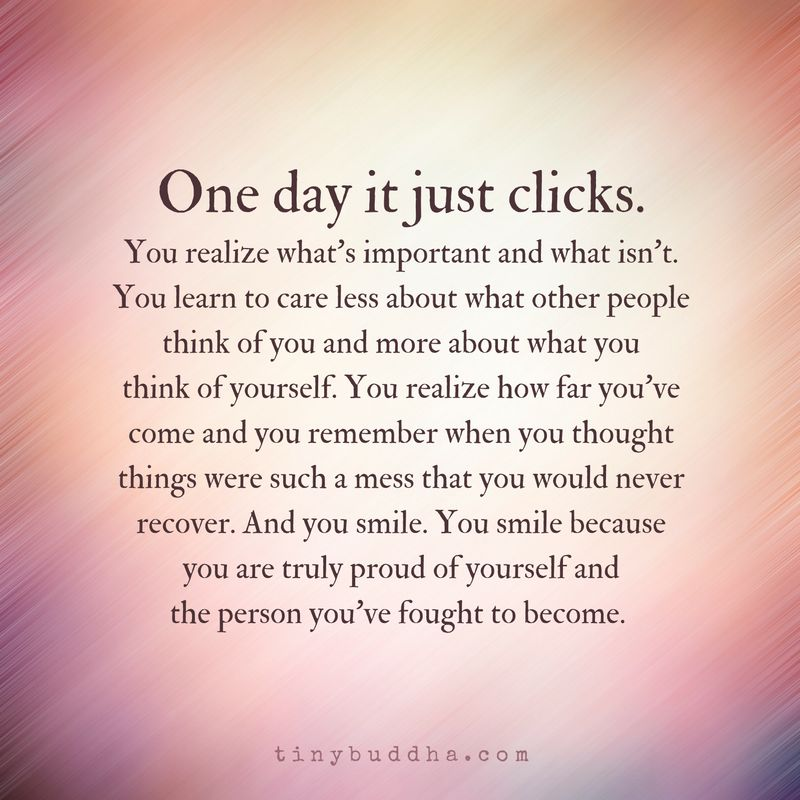 "Tiny Buddha On Twitter: ""One Day It Just Clicks. You Learn"
