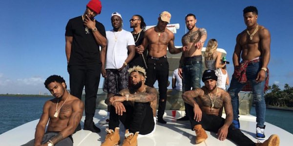 So LBJ once took his talents to South Beach, while OBJ left his there this past week. #Giants #Miami <br>http://pic.twitter.com/1LWyivxMb1