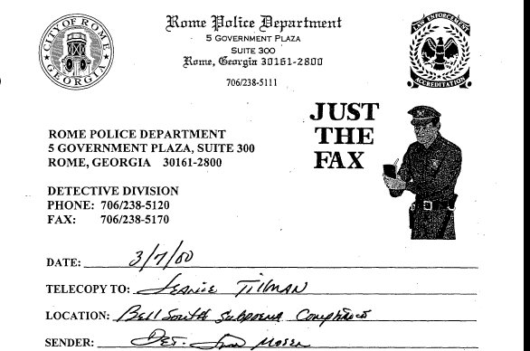 Susan simpson on twitter the rome police departments fax cover 322 pm 9 jan 2017 thecheapjerseys Choice Image