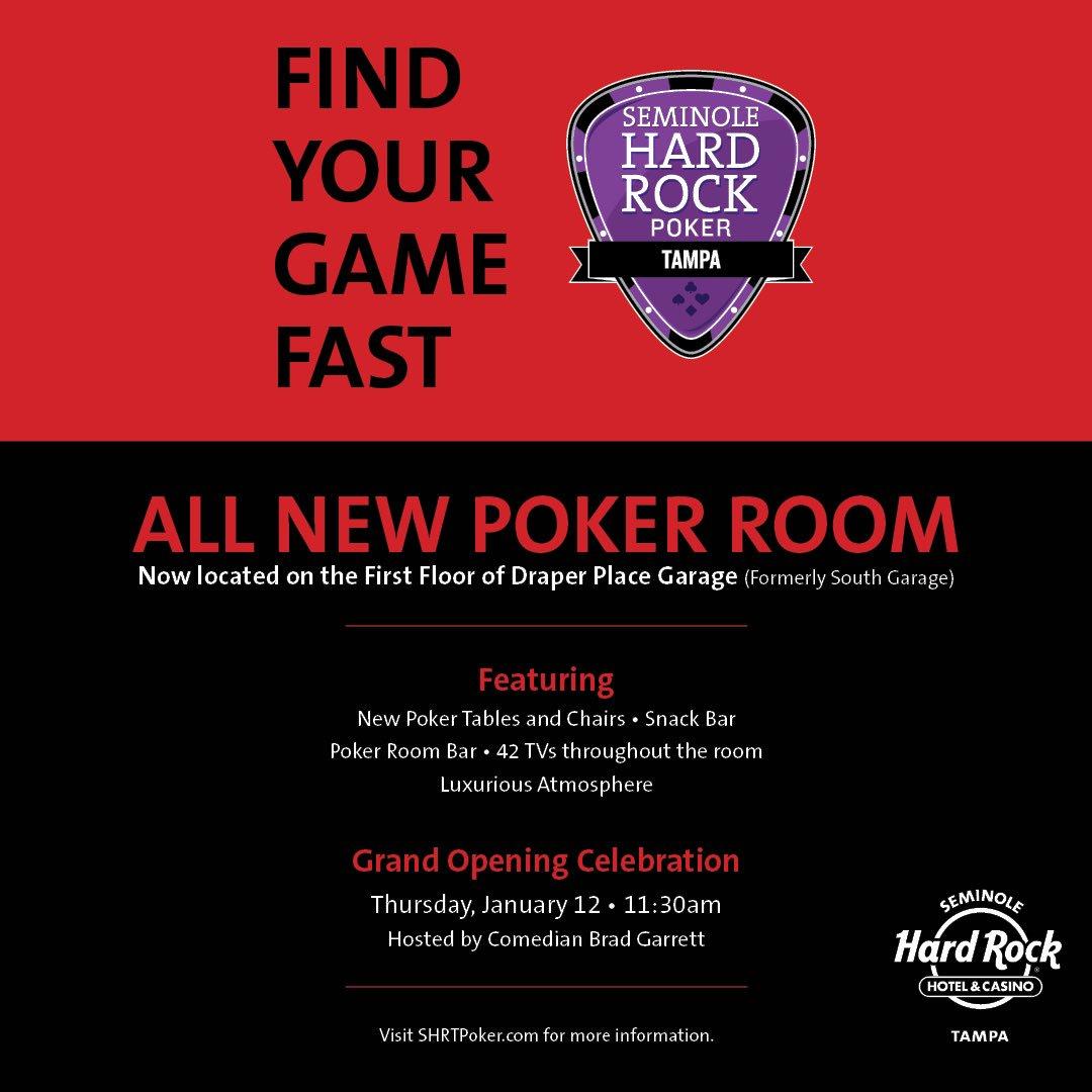 Hard rock tampa poker room hours
