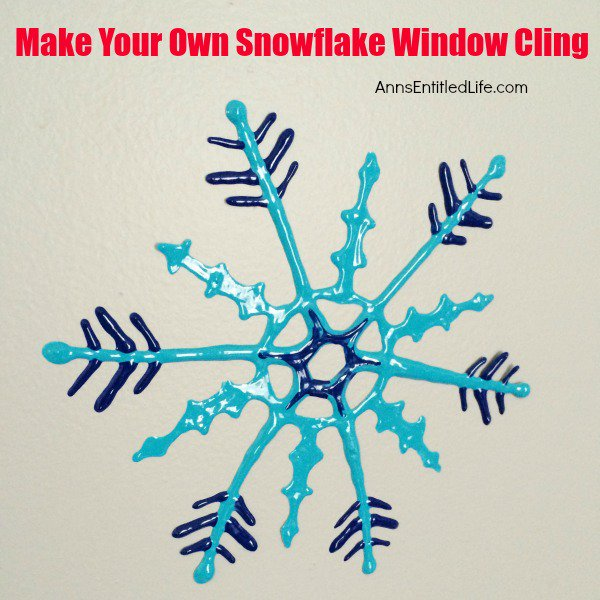 Make Your Own Snowflake Window Cling