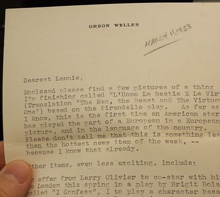 RT @Wellesnetcom Orson Welles letter found @IULillyLibrary describes planned projects: Attila the Hun, Laurence Olivier play, more.  https://t.co/qRxkV3SwKn