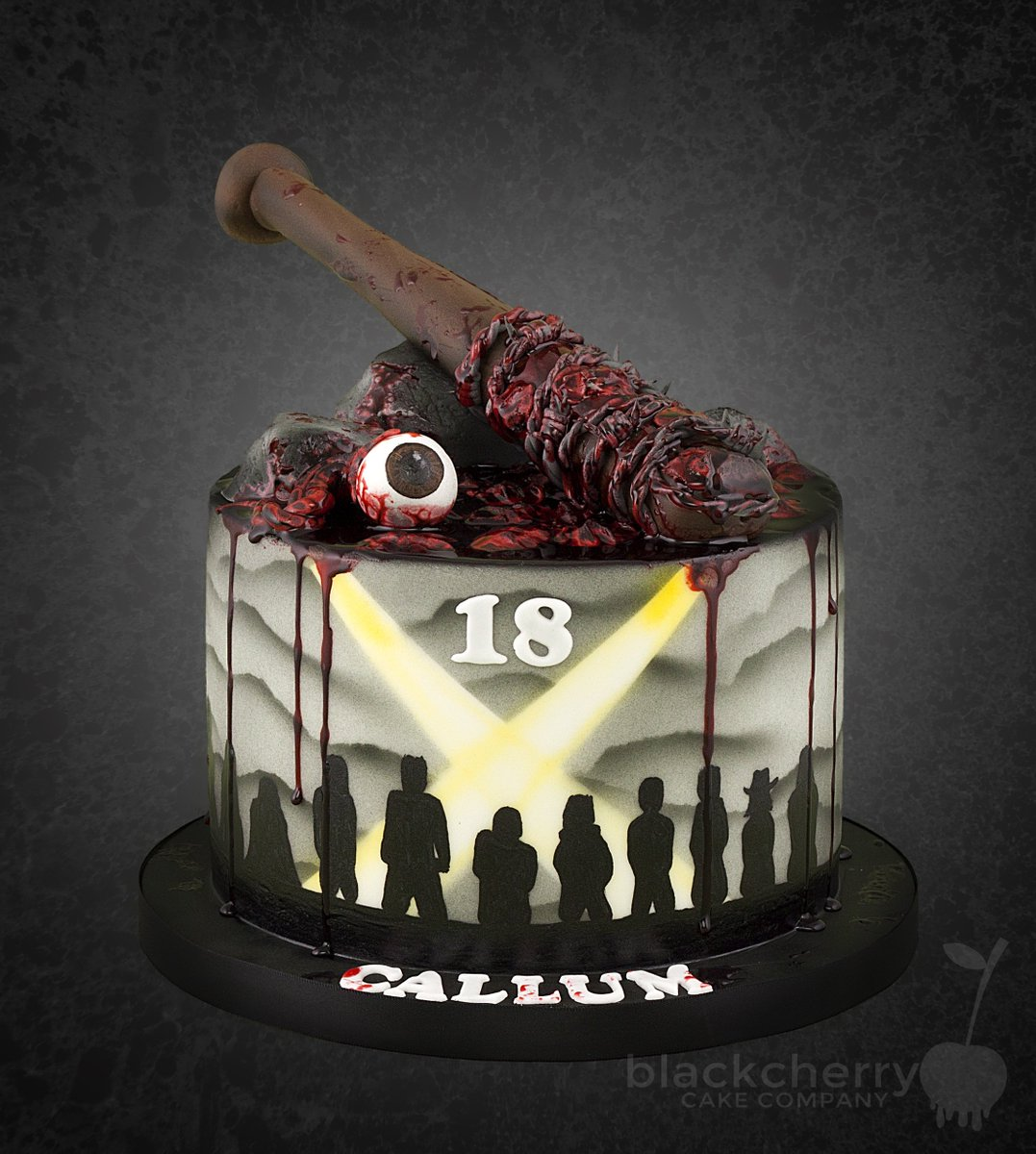walking dead birthday cake cherry cherrycakeco 8345