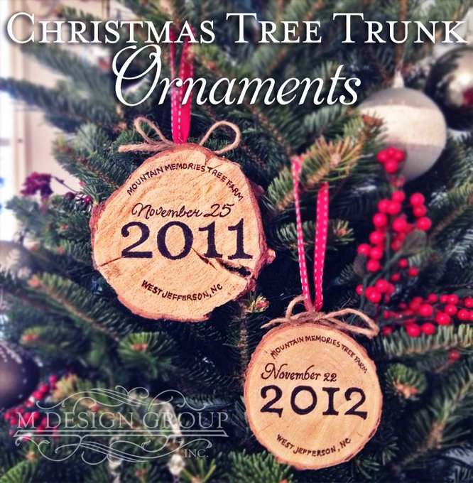 Christmas Tree Trunk Ornaments