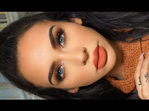 GRWM: MATTE ORANGE Fall Makeup | Carli Bybel #diy #tutorial #beauty #makeup