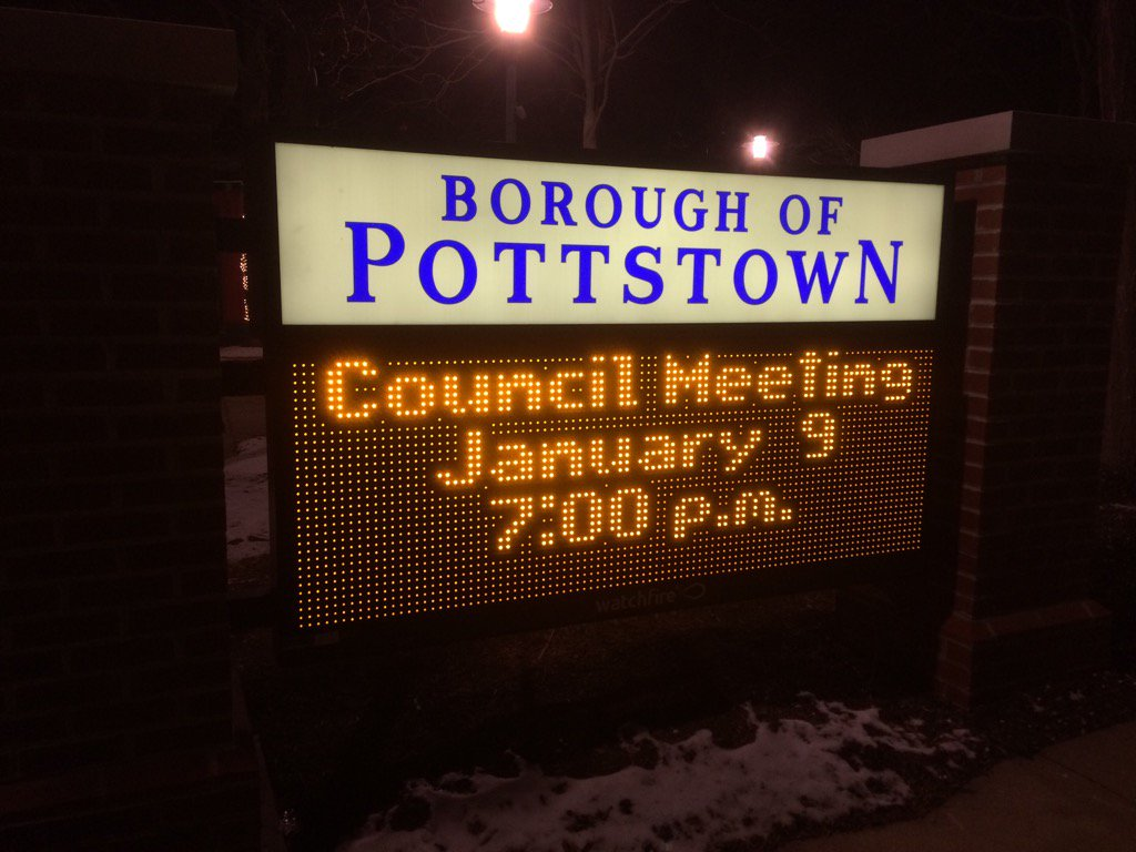 It's Pottstown Borough Council time. All are here. Here we go https://t.co/peitTGXTFo