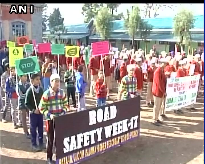 J&K: Road Safety Week rally taken out in Poonch; school students, Police and Transport Officers participated