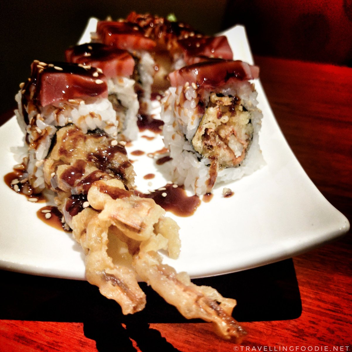 Travelling Foodie Eats Monte Carlo Roll at Dragon Noodle Co in Monte Carlo Las Vegas Nevada