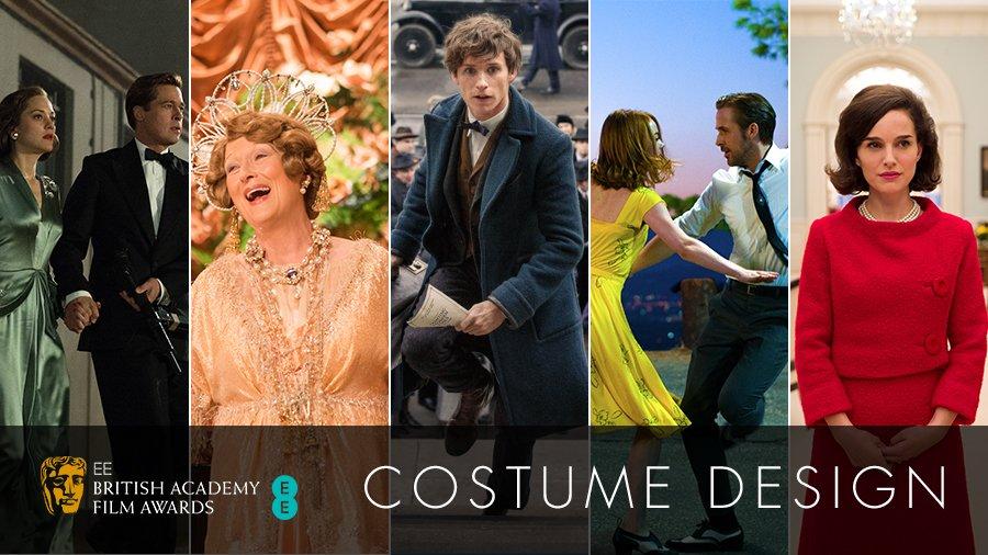Bafta On Twitter Costume Design Allied Fantastic Beasts Florence Foster Jenkins Jackie And La La Land Https T Co Gf2iwjwe10 Eebaftas Https T Co V9qdzl6to0