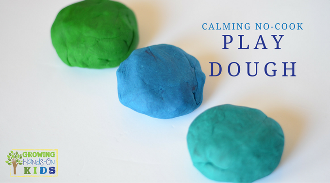 Calming No-Cook Play Dough Recipe for Sensory Play
