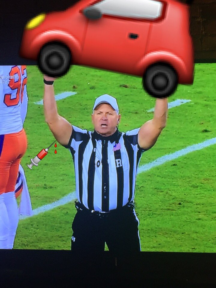 Wow! I can't believe what I'm seeing out there! #nationalchampionship...