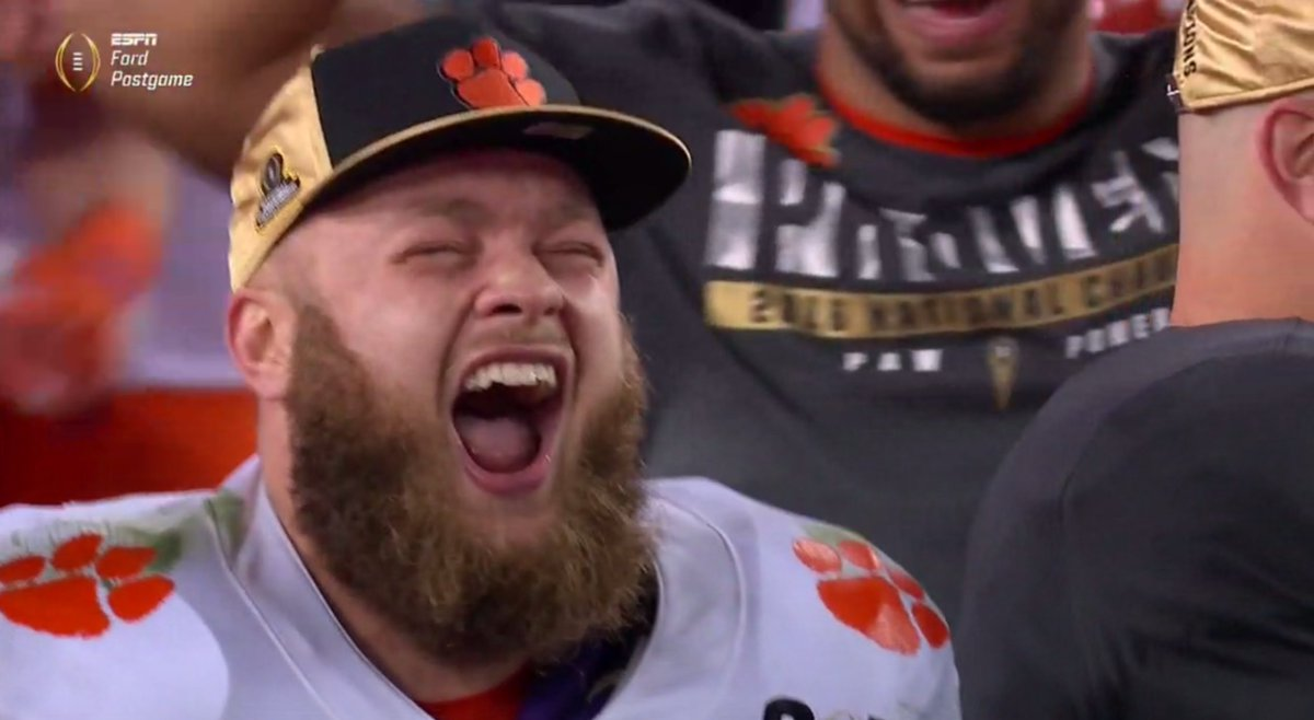'IT'S FINALLY COMING HOME!!!!'  #nationalchampionship #ALLIN https://t...
