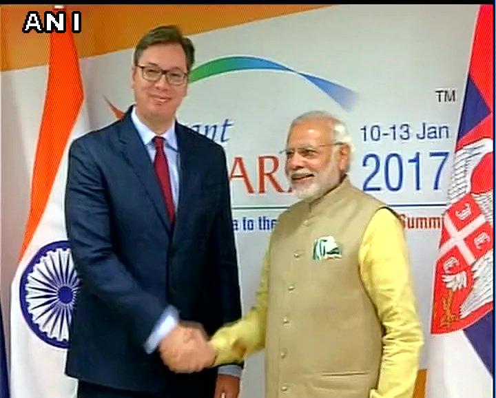 Gujarat: PM Modi meets Serbian PM Aleksandar Vučić in Gandhinagar