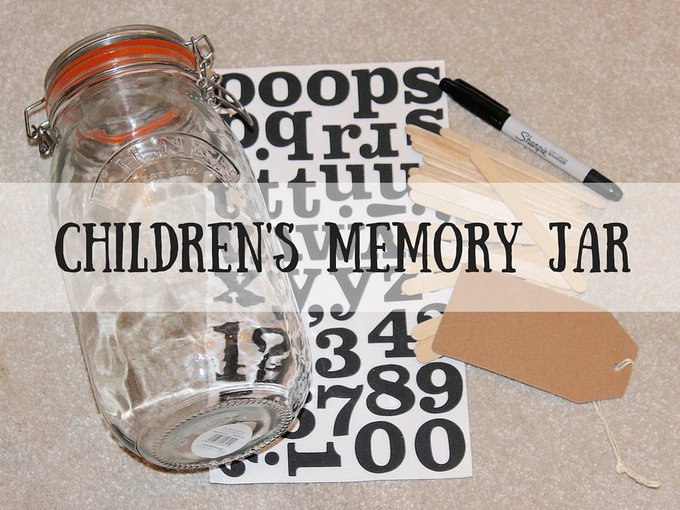 Childrens Memory Jar