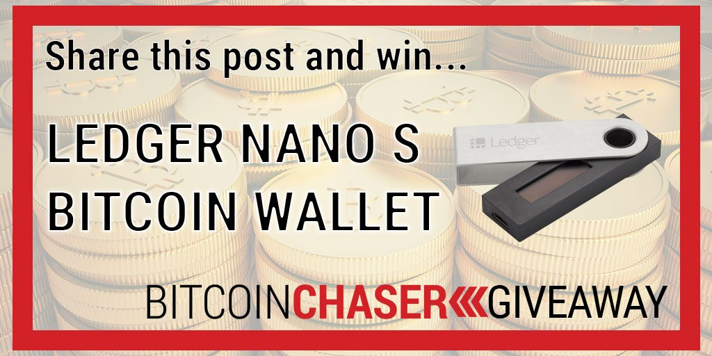 Retweet this post and you'll be eligible to win @LedgerHQ Nano S Wallet. What are you waiting for? Enter now http://bitcoinchaser.com/giveaway #btc