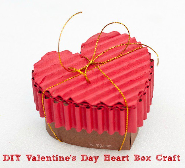 DIY Valentine's Day Heart Box Craft