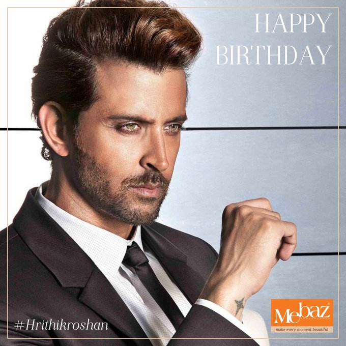 The man who is a great style quotient. Mebaz wishes Hrithik Roshan Happy Birthday !!