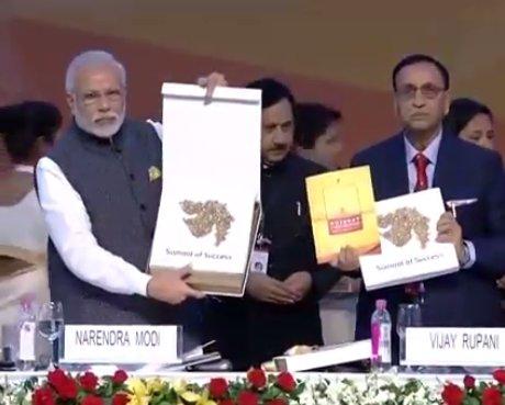 Coffee Vibrant Gujarat Summit Shri Inaugurates Coffee Table Book