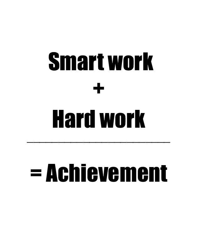 Image result for work hard but smart