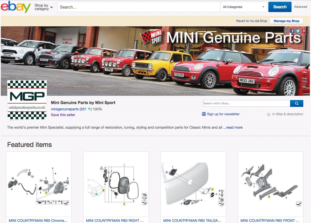 Mini Genuine Parts Miniparts Twitter