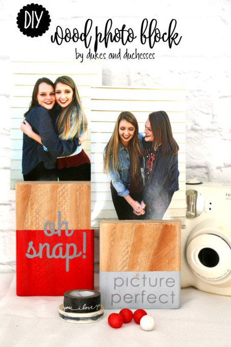 DIY Wood Photo Block