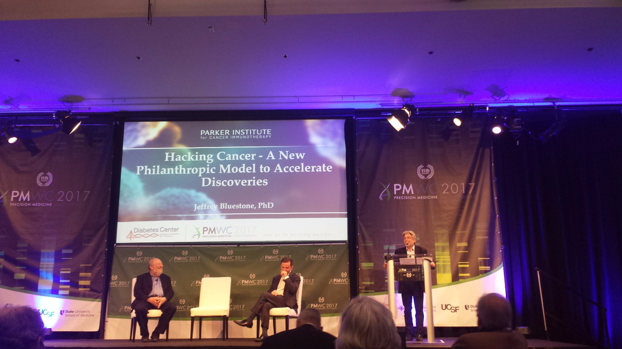 I'm here to tell you how #immunotherapy has exploded, changed how we treating cancer, organize around it -Jeff Bluestone, PICI CEO #PMWC17 https://t.co/VkAt2bPUM6