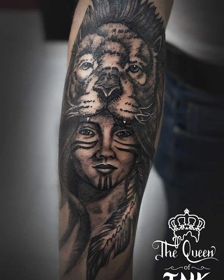 The Queen Of Ink On Twitter Leon Totem Tattoo Tatuaje