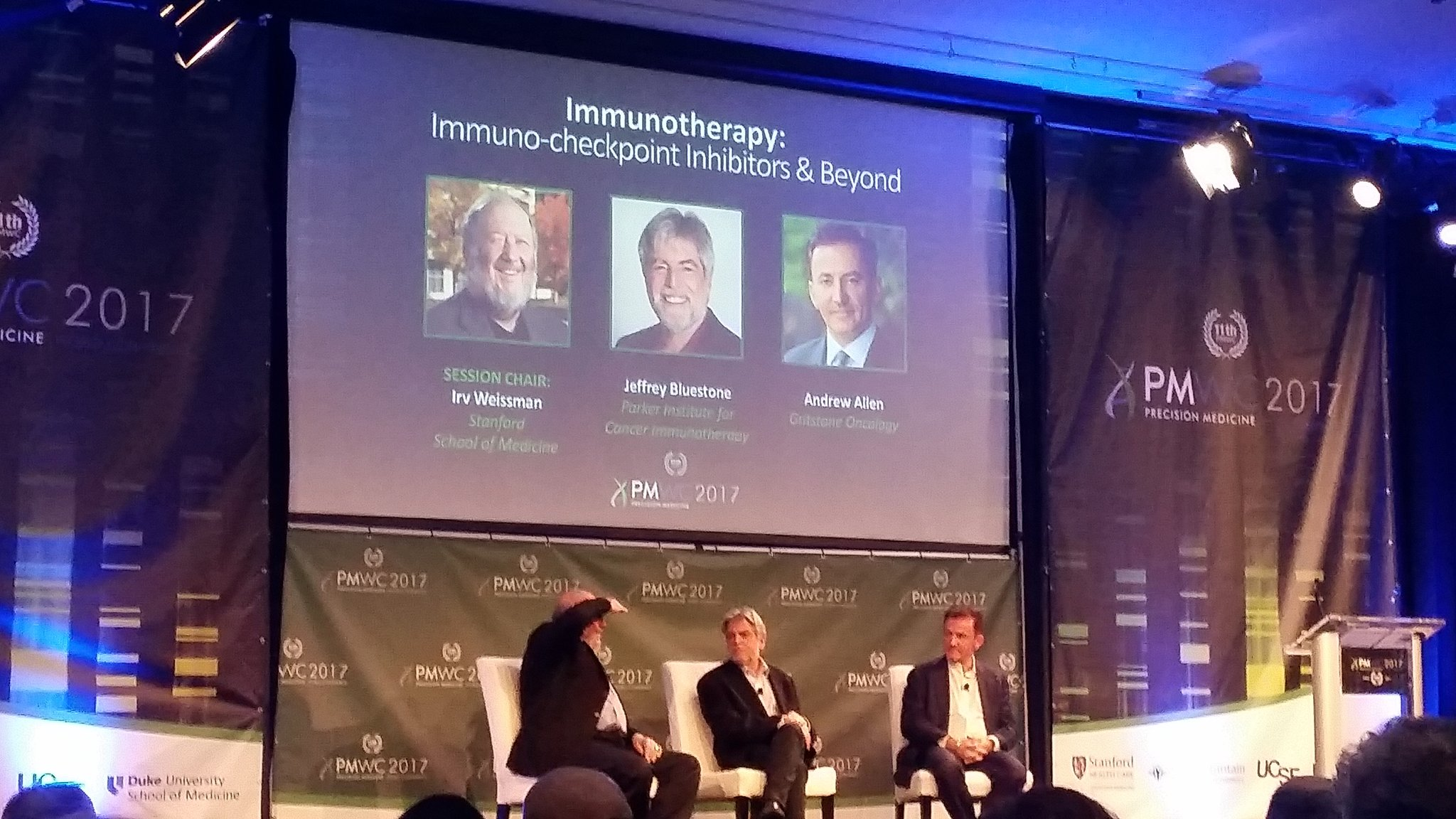 Fantastic session followed by great panel discussion! #immunotherapy #PMWC17 https://t.co/dl6af5Zwqn