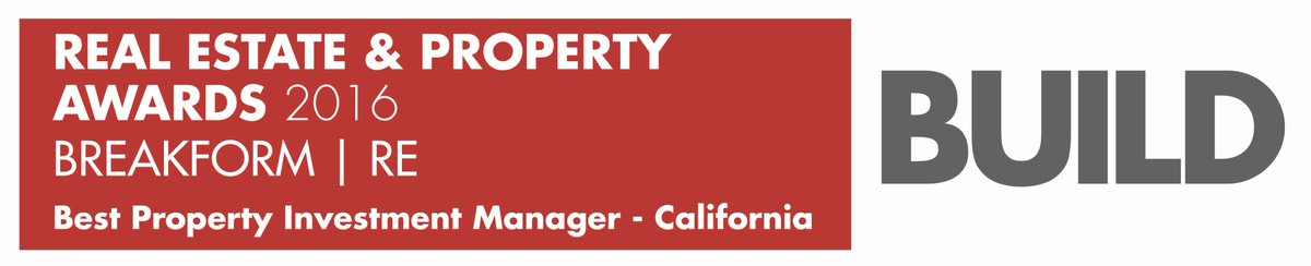 We are honored to have been recognized as the Best Property Investment Manager in California for 2016!  Thank you @BuildNews