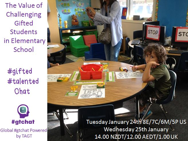 Thumbnail for #gtchat: The Value of Challenging Gifted Students in Elementary School