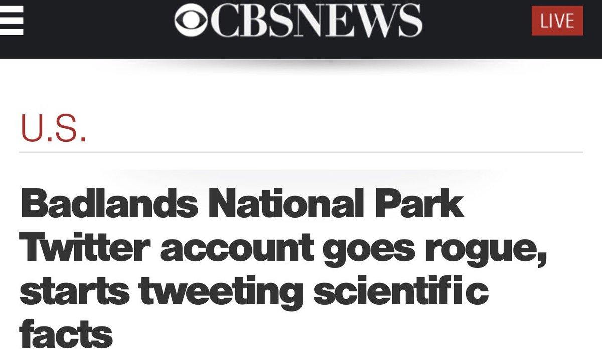 CBS News. We are living in an alternate universe. https://t.co/MxZJcRRXi3