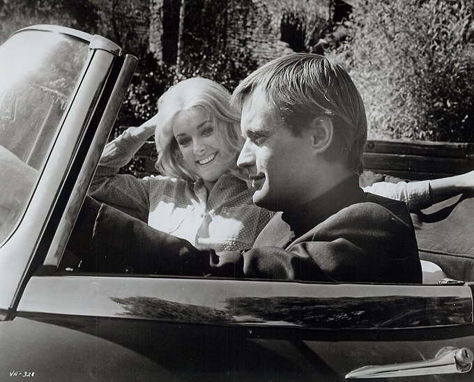 Happy birthday Sharon Tate, who died too soon. Here she is with David McCallum.