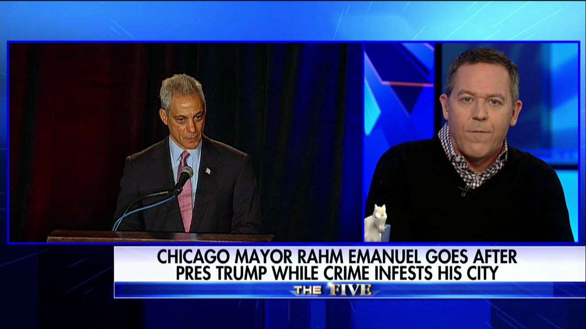 .@greggutfeld to Rahm Emanuel: 'Shut Up' About Trump & Focus on Chicago Murder Epidemic  @TheFivehttps://t.co/e15AzofZ9n