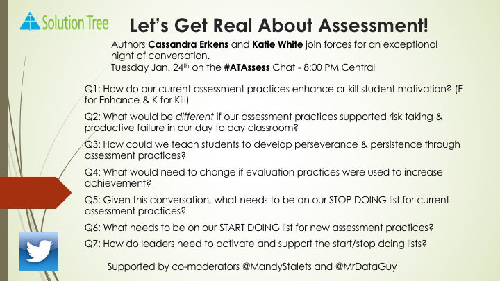 #ATAssess now live with @KatieWhite426 and @cerkens! Major thinkers in assessment. Don't lose this opportunity to collaborate! https://t.co/vfuQKX67Px