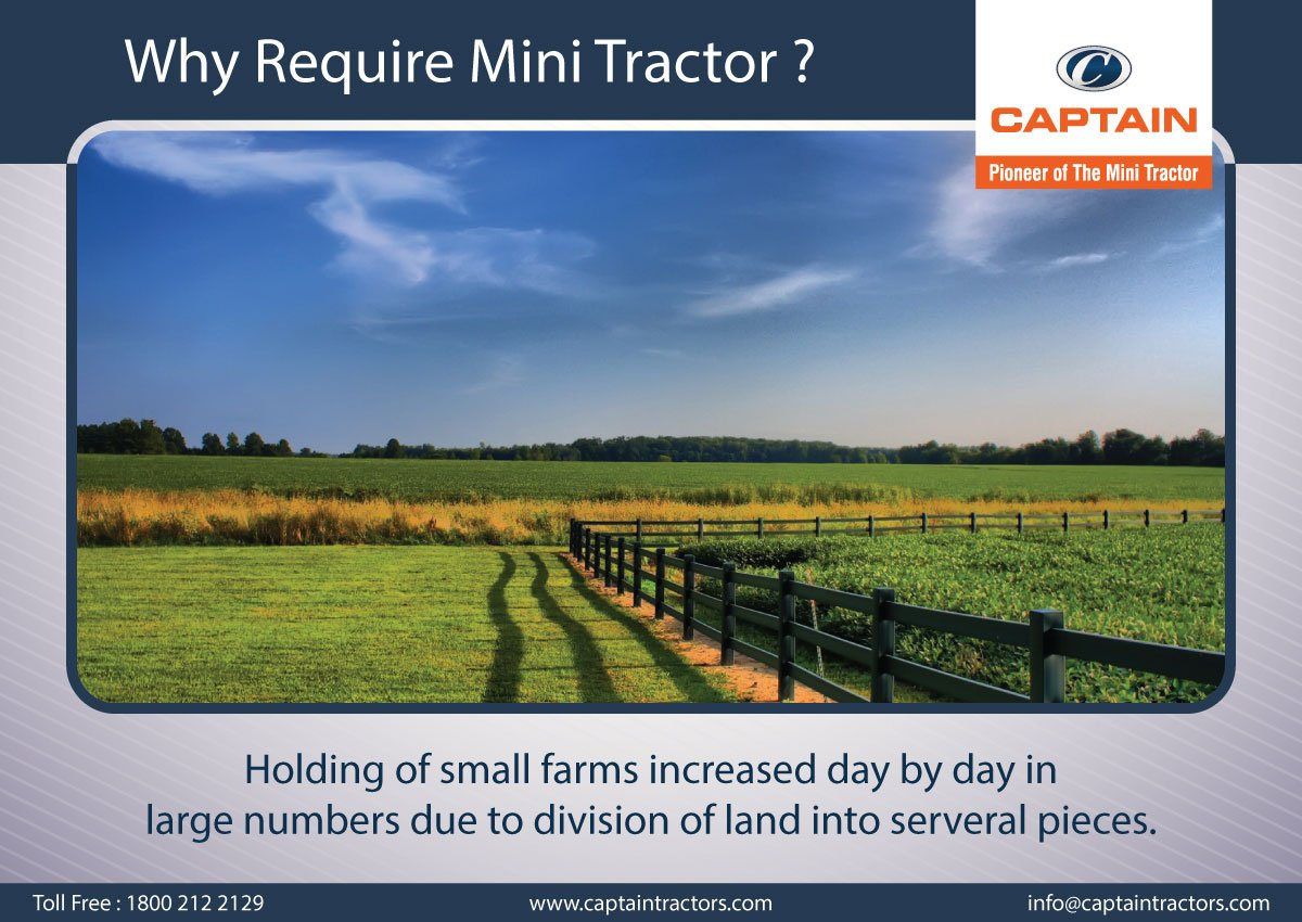 Why Require Mini Tractor? : Reason#1 #CaptainTractors #MiniTractor #Advantage #Requirement<br>http://pic.twitter.com/42ImNnFL3G