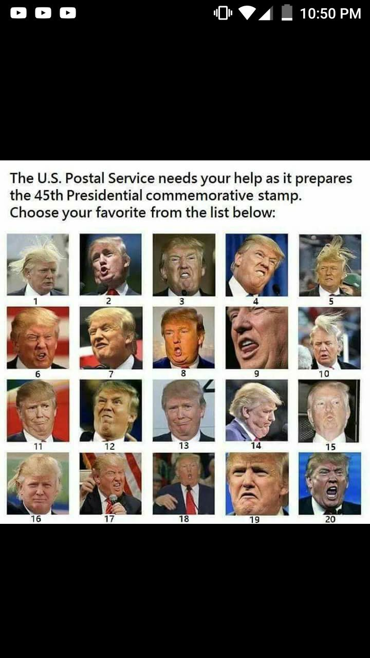 Help the U.S. Postal Service choose the official Trump stamp! C205asoUsAAosVB